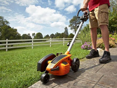 Yard services include edging