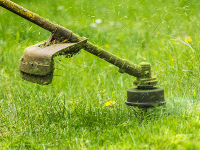 Yard services include weed eating GB Landscape